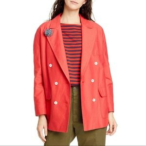 Alex Mill • NWT Tomato Red Double Breasted Jacket